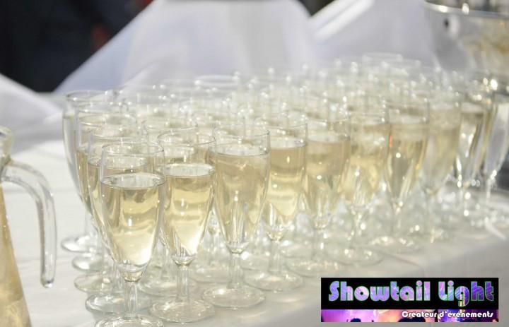 Coupes de champagne du traiteur