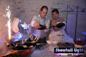 La fontaine de champagne des mariés