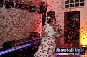 Effet spéciaux confettis mariage