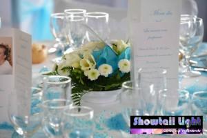 Décoration de table pour le repas de mariage