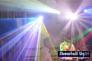 Eclairage pour piste de danse et effet laser