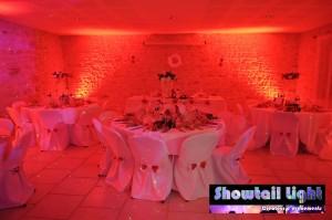 Eclairage décoratif mise en valeur de salle de mariage