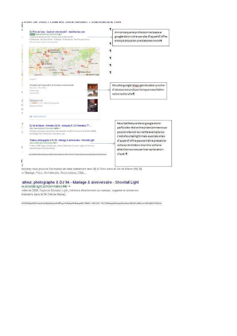Recherche Google Agence évènementiel 94