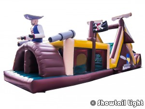 Parcours bateau pirate gonflable